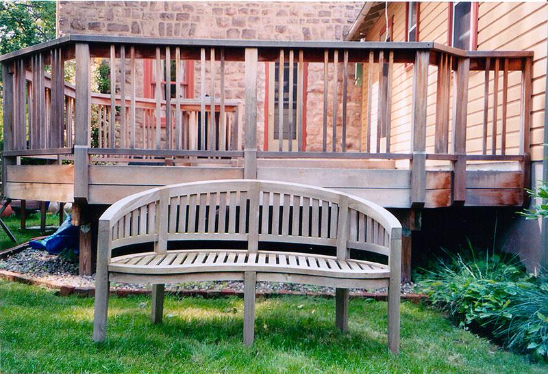 Deck Bench Before Deckpro Powerwash Company